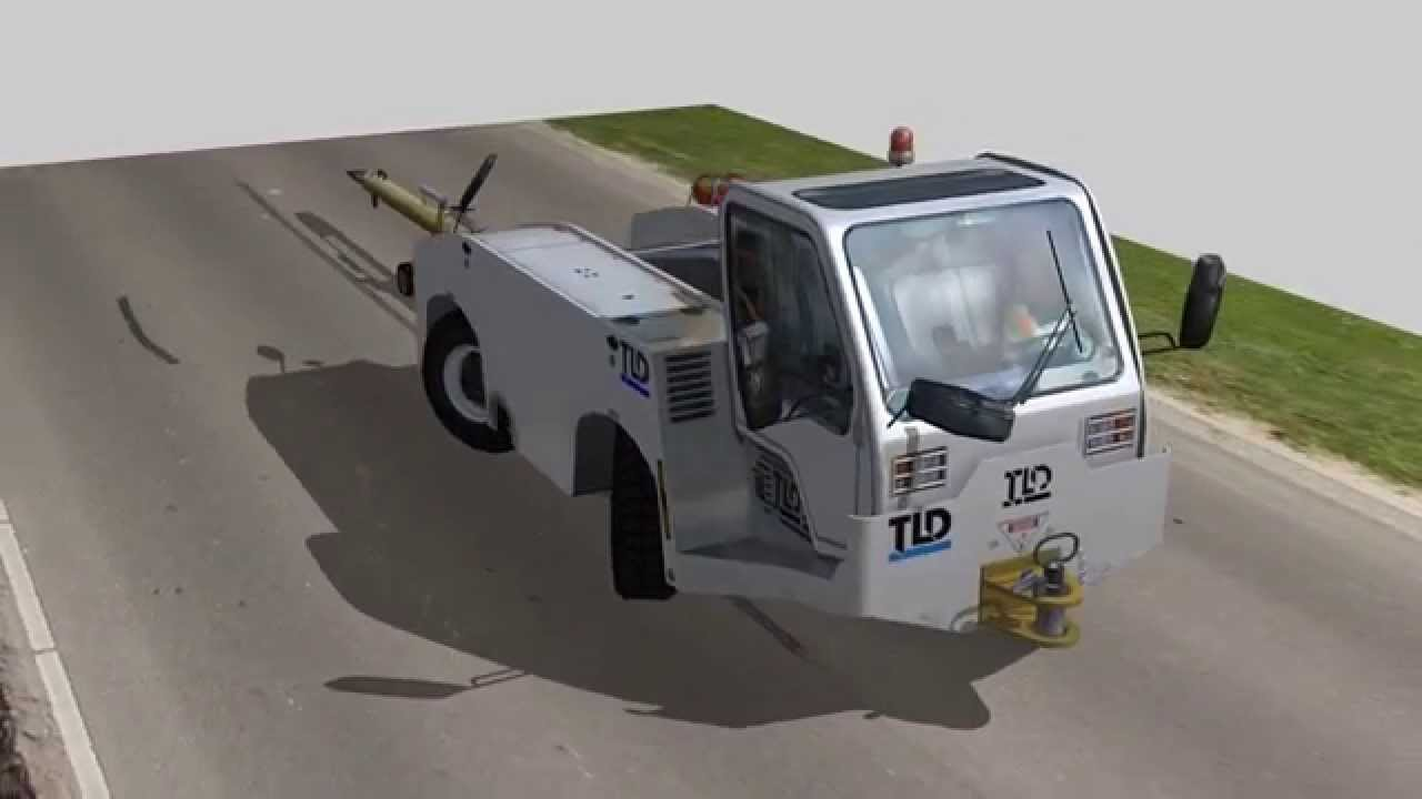 TLD The TMX-150 aircraft towing tractor